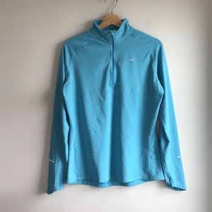 Nike Element Dry Fit Half Zip Blue Pullover, L